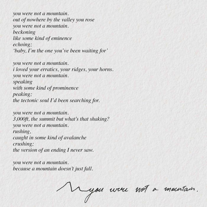 Poetry_You Were Not A Mountain_ The Jungle Paper